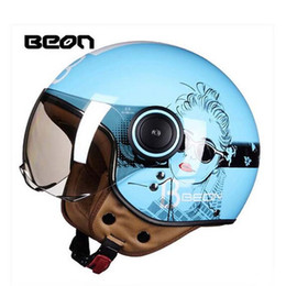 Ran Helmet Canada - 2017 Summer New BEON Harley retro motorcycle helmet ABS half face motorbike vehicles running helmets four seasons with girl Design B-110B