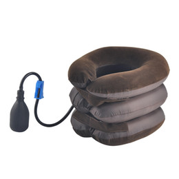 New Air Bag Tractor Cervical Neck Vertebra Traction Soft Brace Device MassagerNeck Care Body Massager with OPP bag 0613012 on Sale