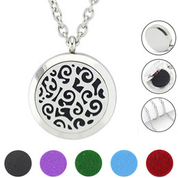$enCountryForm.capitalKeyWord NZ - Free with Chain as Gift! Hot Silver 30mm Magnetic Aromatherapy Locket Jewelry 316L Stainless Steel Pefume Diffuser Necklace