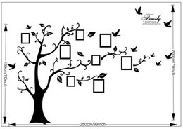 $enCountryForm.capitalKeyWord Canada - 94AB Large Tree Photo Frame Stickers Family Like Branches on a Tree DIY Quote Vinyl Decals For Kids Rooms Birds Home Decor