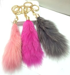 Lucite Ball Canada - Fur fur ball pendant large fox's tail hair ornaments jewelry bag pendant special offer car key