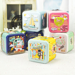 $enCountryForm.capitalKeyWord Canada - Exquisite 3D Cartoon Tin Box Biscuit Tea Sundries Container Case Metal Customizable Storage Boxes Child Gift Box Square 6pcs lot