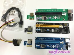 Pci E Power Supply Canada - PCI-E 1x to 16x Riser card Extender Adapter USB 3.0 Cable Molex Power Supply For Bitcoin BTC Litecoin Miner 100set
