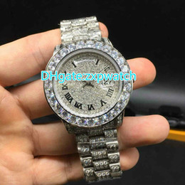 China New large diamond watch brand automatic mechanical men's watches, all diamond watches stainless steel silver box, high quality AAA 40MM suppliers