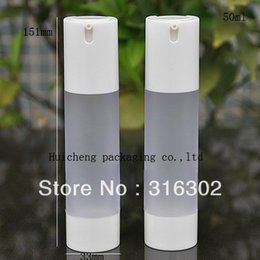 Used Bottles Canada - 6pcs lot 50ML Frost PP Airless Bottle,Pastic Lotion Pump Bottle Used for Cosmetic Packaging