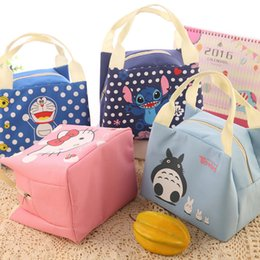 Wholesale New Cute Cartoon Girl Lunch Bags Storage bags thicker Insulation Bags handbags Waterproof lunch box A0506