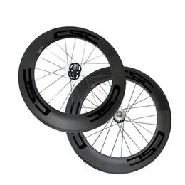 $enCountryForm.capitalKeyWord NZ - 25mm Width Carbon Wheels 88mm Tubular Clincher Carbon Track Bike Wheels Fixed Gear Free Gear Single Speed Bicycle Wheelset A165 A166 Hub