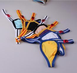 $enCountryForm.capitalKeyWord NZ - Mens Jockstrap G String Jock Strap Underwear Thong Men Sexy Sleepwear Male Thong Penis Pouch Gay Wear Brand Bikini Shorts