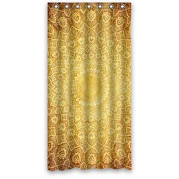 Patterns Curtains UK - Customs 36 48 60 66 72 80 (W) x 72 (H) Inch Shower Curtain Luxury Bathroom Golden Pattern Waterproof Polyester Fabric Shower Curtain