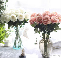 Wholesale artificial velvet flowers online wholesale artificial velvet single rose 9 colors artificial silk flowers for valentines day wedding party centerpieces home holiday decoration 03332 mightylinksfo Gallery