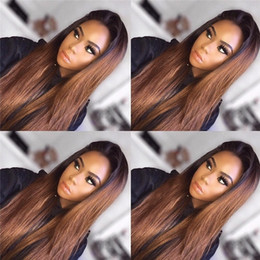 22 ombre full lace wig NZ - 8A Ombre Brazilian human hair lace Wig Human Hair Wigs Glueless Full Lace Wigs Lace Front Wigs For Black Women