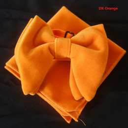 $enCountryForm.capitalKeyWord Canada - DK Orange Velvet Bowties with Matching hankie Mens Unique Tuxedo Velvet Bowtie Bow Tie Hankie Set Necktie Set