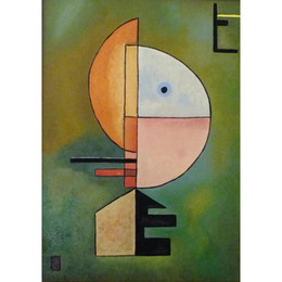 kandinsky landscape paintings 2019 - Hand Painted abstract paintings Wassily Kandinsky Hommage a grohmann art oil canvas High quality home decor discount kan