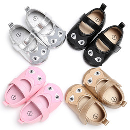 Barato Sapatas Da Menina Do Gato-Cartoon Baby Shoes New Autumn Cat Girls Princesa Shoeses Bonitinho Soft-soled Infant First Walkers Toddler Casual Shoes Newborn Shoes C1607