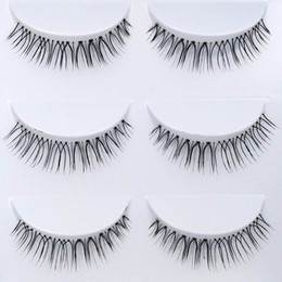 transparent strip false eyelashes NZ - 3Paris set Natural Long False Eyelashes Transparent Plastic Hand made Fashion Fake Eye Lashes Synthetic Hair Professional Full Strip Lashes