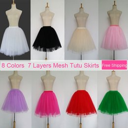 4675fbb72f548 Tulle Skirts Womens 7 Layers High Quality Summer Womens Adult Tutu Skirt  Faldas Saias Femininas Pleated Midi Skirts