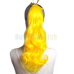 online shopping Natural Synthetic Yellow Curly Ponytail Hair Extensions NWG0HE60924 YE2