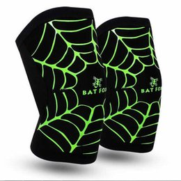 Barato Aranha Legging-Black Spider Web Leg Wrappings Outdoor Riding Hard-Wearing Kneecap High Elastic Anti-Outono Ice Skate Kneelet Lycra Tela Tela Kneecap