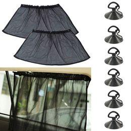$enCountryForm.capitalKeyWord Canada - 1 pair 40*80cm Car Curtain Side Window Car Sun Shade Curtain Windshield Sunshade Shield Visor Block Black Curtains UV Protection