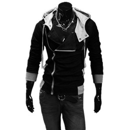 China Wholesale-2016 Hot New Sale Men Sweatshirts & Hoodies Male Tracksuit Hooded Jackets Fashion Casual Jackets For Men M-6XL Assassins Creed supplier male short sleeve hoodie suppliers