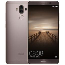 Wholesale Original Huawei Mate 9 4G LTE Mobile Phone Kirin 960 Octa Core 4GB RAM 32GB 64GB ROM 5.9 inch HD Android 7.0 Fingerprint ID NFC 20.0MP Phone