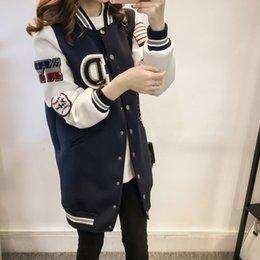 484f4cf7b1377 Wholesale- 3xl plus big size coats women spring autumn winter 2017 bermuda  feminina loose baseball uniform thin long jacket female A1649