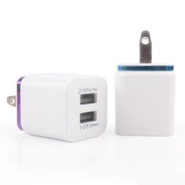 iphone power dock 2019 - Universal 2.1A Wall Charger Plug US EU Dual USB 2 Port AC Power Adapter 2 ports for iphone 5 5s 6 7 plus for Samsung HTC