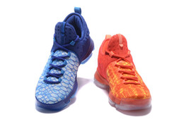 dd021561d504 2017 New KD9 What the KD 9 Fire   Ice men Basketball Shoes blue red Kevin  Durant 9s Sneakers Wholesale cheap shipping Size 7-12