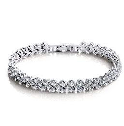 9215ede92742 925 joyas de plata de cristal encanto pulseras swarovski elementos  Rhinestone cadena moda vintage boda de calidad superior