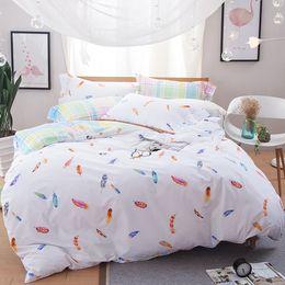 svetanya feather printing bedclothes brand new bedding sets twin full queen size doona duvet cover set 100 cotton bedlinen