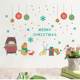 $enCountryForm.capitalKeyWord NZ - Wholesale New Merry Christmas Xmas snowman bear Deer Cartoon Wall Stickers Window Home Décor wallpaper free shipping
