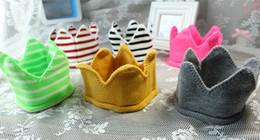 birthday photography 2019 - Birthday party knitting stripes crown hat headband sleeping eye mask Holiday Photography props kids Christmas fancy dres