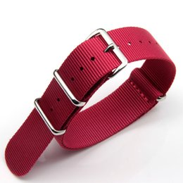 $enCountryForm.capitalKeyWord Canada - Red Khaki Blue Fine Quality Nylon Nato Straps Watch Band For Panerai with 3-Rings 18mm 20mm 22mm Free Shipping