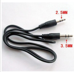 Discount 3.5 aux jack 60cm 3.5mm 3 5 to 2.5mm 2 5 mm Male cable audio aux Jack Male converter Audio Adapter Cable