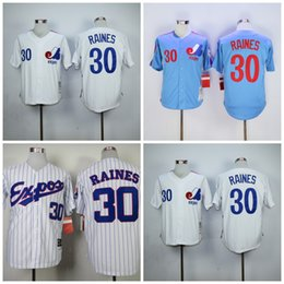 ... mitchell and ness expos 30 tim raines white throwback stitched mlb jersey  stitched . 91cbef4f5
