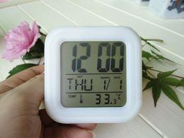 $enCountryForm.capitalKeyWord Canada - Alarm clock colorful color mood LED Night Light Night temperature display calendar calendar small alarm clock
