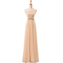 $enCountryForm.capitalKeyWord UK - New Brand Competitive Price Formal Design One Shoulder Evening Gowns Floor Length Beaded Champagne Chiffon Gown