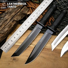 $enCountryForm.capitalKeyWord Canada - Cold steel Leatherneck Tanto hunting knife D2 blade with Fixed blade and knife lanyard hole tactical sheath Survival knife tool LCM66