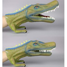 $enCountryForm.capitalKeyWord Australia - Big size Dinosaur Hand puppets Soft plastic dinosaur figures tyrannosaurus baryonyx allosaurus Kids role play props Cosplay toys