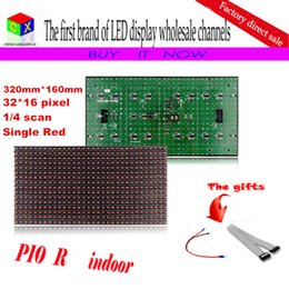 Semi outdoor led diSplay online shopping - Semi outdoor RED led module mm mm DIP P10 single red for indoor business display screen