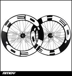 $enCountryForm.capitalKeyWord Canada - Free shipping Fixed gear full Carbon 88mm Clincher wheels carbon 700C matte or glossy painting fixie track road bicycle wheelset