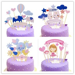 $enCountryForm.capitalKeyWord Australia - Birthday Cake Flag Club Party Decorative Picks Children's Birthday Party Cupcake Wrappers and Toppers for Party Supplies 1set