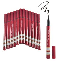China YANQINA Silver Red Tube NEWEST Extreme Liquid Black Eyeliner Waterproof Makeup Beauty Eye Liner Pencil Pen Makeup Tools DHL suppliers