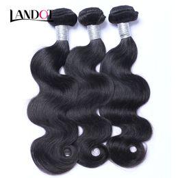 $enCountryForm.capitalKeyWord Canada - Brazilian Body Wave Virgin Hair 3Pcs Unprocessed Brazillian Human Hair Weave Bundles Natural Black Cheap Brazillian Hair Extensions Dyeable