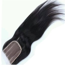 Chinese  Peruvian Virgin Remy Hair Piece 4*4 Top Closure Natural Black Straight Peruvian Remy Hair Front Lace Closure manufacturers