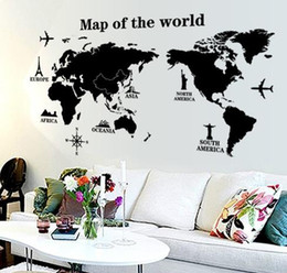 3d world map wall stickers online shopping 3d world map wall wall stickers black map of the world vinyl wall letter quotes decals removable 3d art wall stickers home decor gumiabroncs Choice Image