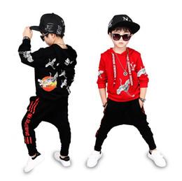 cb2f715d6 Hip Hop Costume Spring Autumn Children Clothing Set Outfit Boys Long Sleeve  Sports Suit Kids Hoodies+Pants 2Pcs Sets Tracksuit