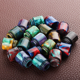 Wholesale 810 Epoxy Resin Drip Tips For TFV8 Atomizer Tank Cloud Beast Atomizers 810 Mouthpiece Vape Ecig with Acrylic packaging DHL Free
