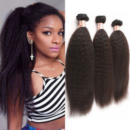 12 Inch Straight Human Hair Canada - Kinky Straight Hair Wefts Mongolian Virgin Hair 8-30 inch Wefts 3 Bundles Mongolian Human Hair Weaves