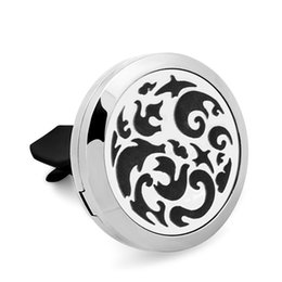 $enCountryForm.capitalKeyWord NZ - 5PCS Bat 316L Stainless Steel Car Perfume Locket For 30MM Essential Oil Diffuser With Free Pads